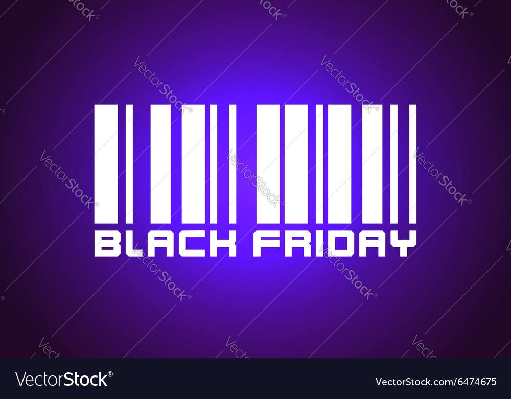 Barcode Labeled Black Friday