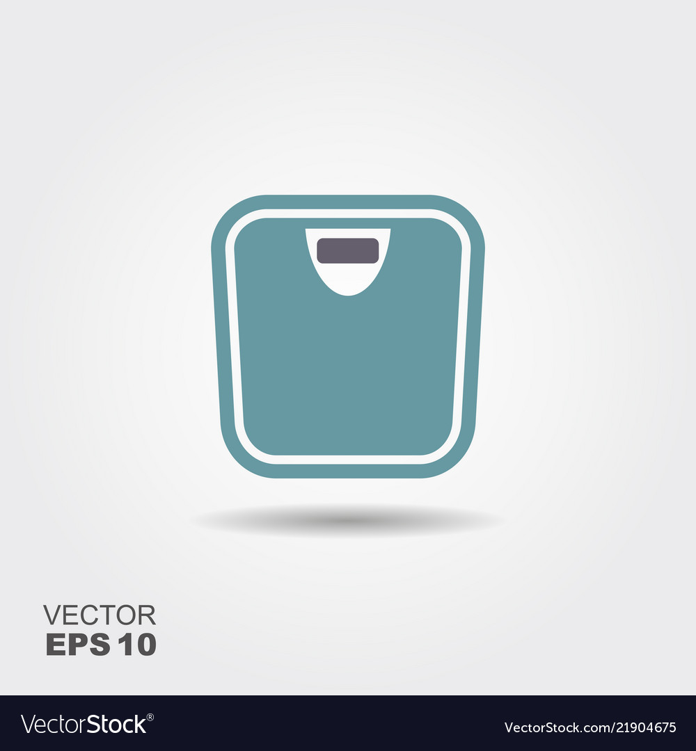 Bathroom weight scale icon in flat style isolated