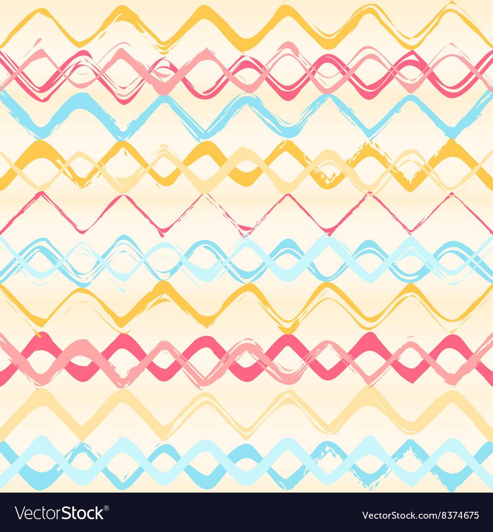 Colorful stripes seamless zigzag pattern