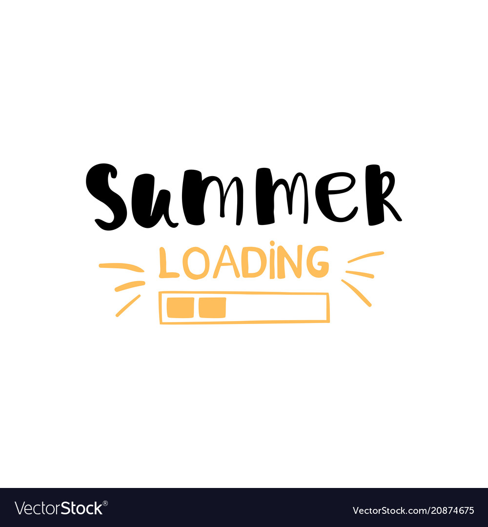 Conceptual hand drawn phrase summer loading