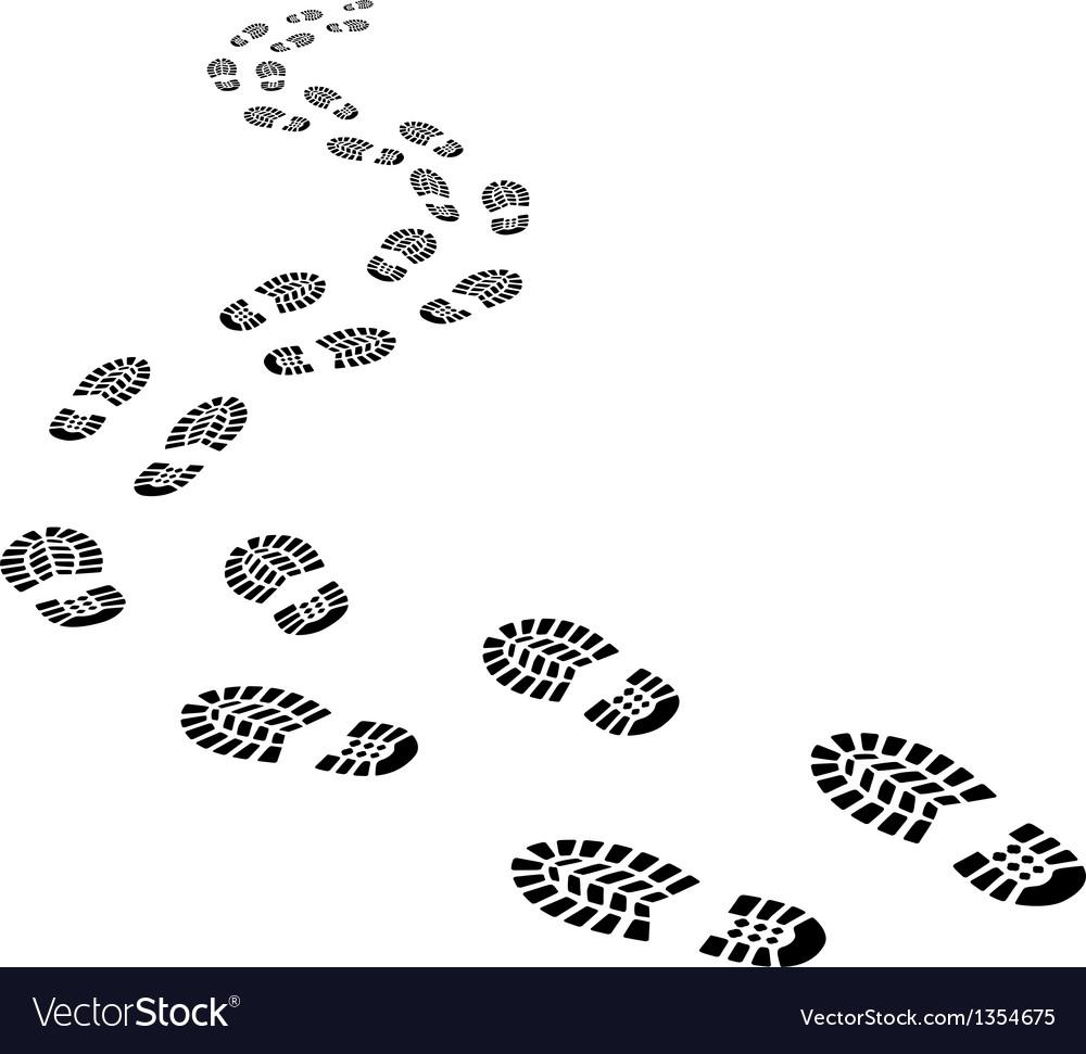 footprints royalty free vector image vectorstock