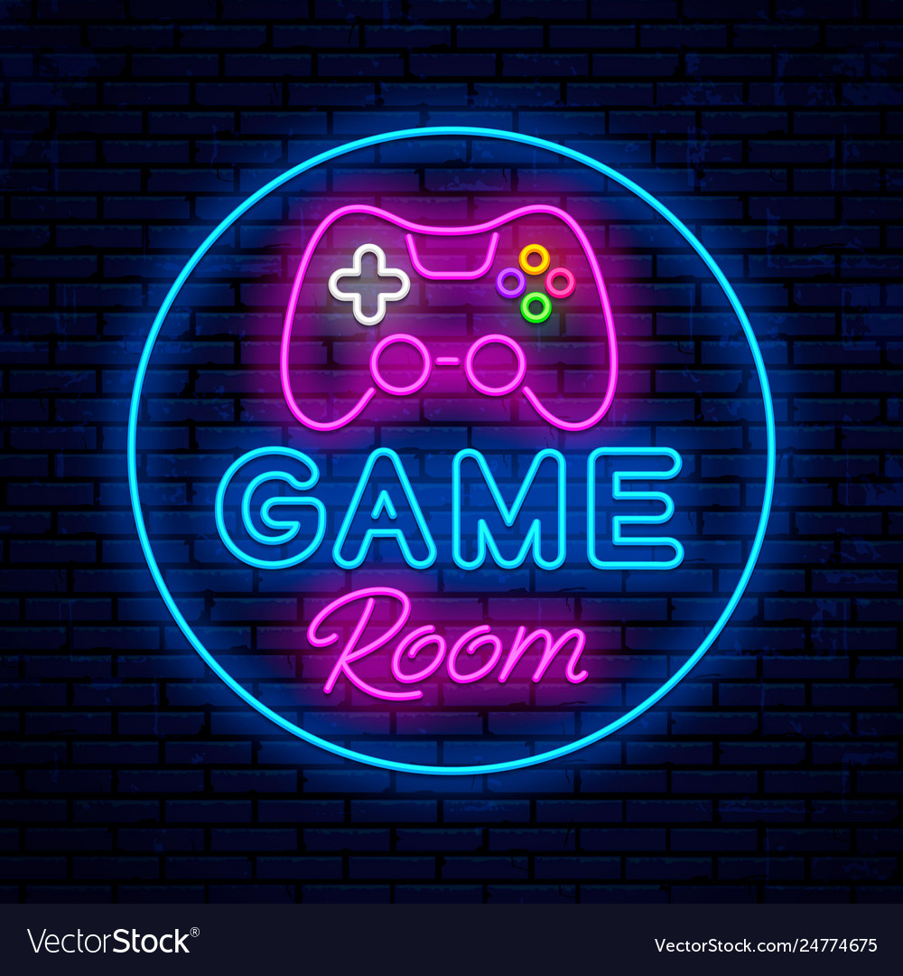 Game room neon sign design