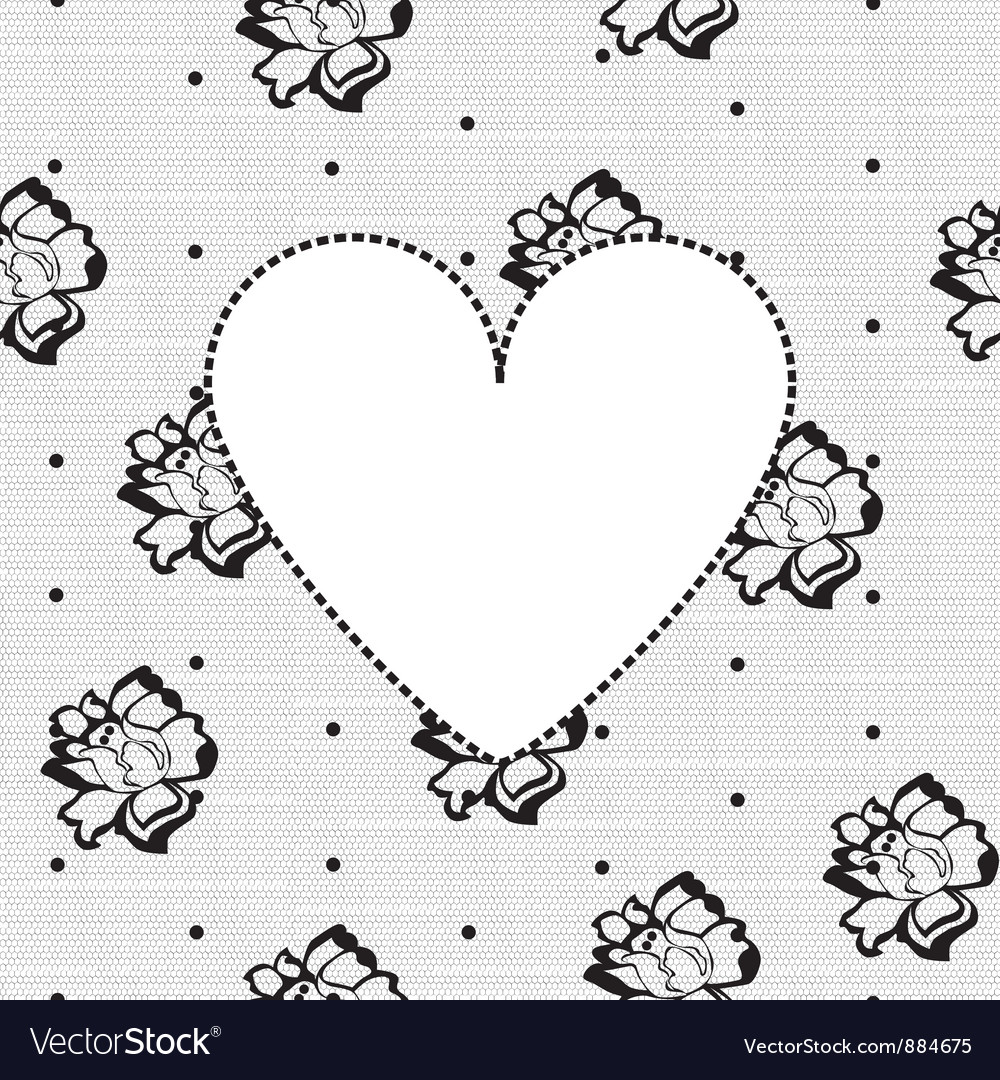 Heart on a background of floral lace