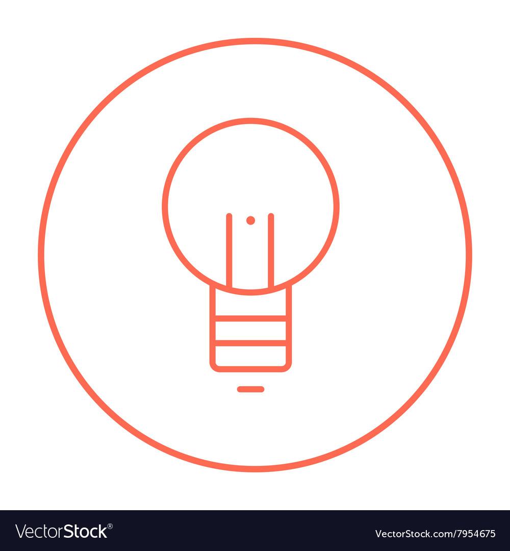 Lightbulb line icon