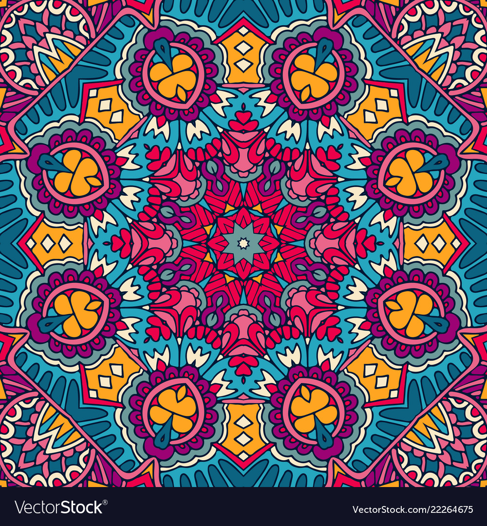 Mandala colorful ethnic round ornament