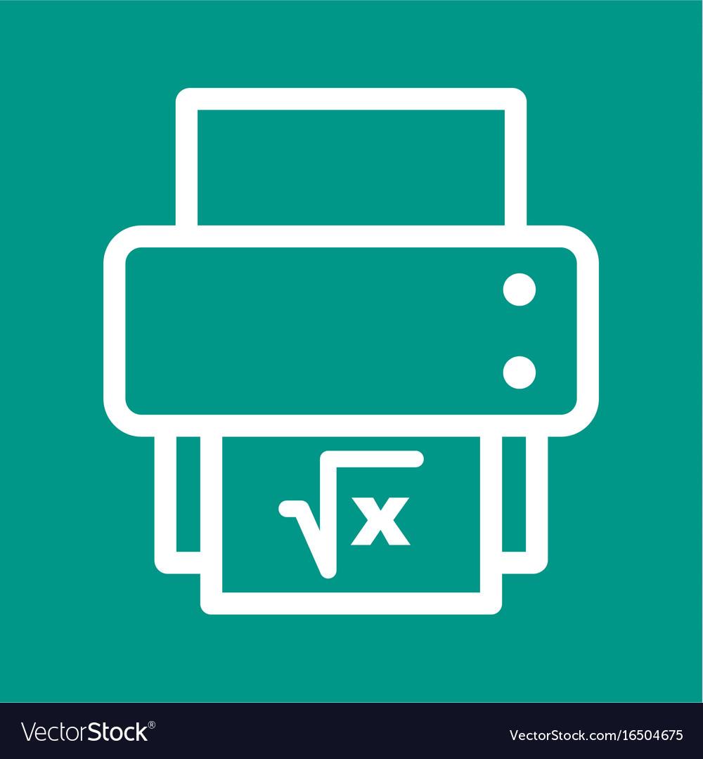 Print math sheet Royalty Free Vector Image - VectorStock