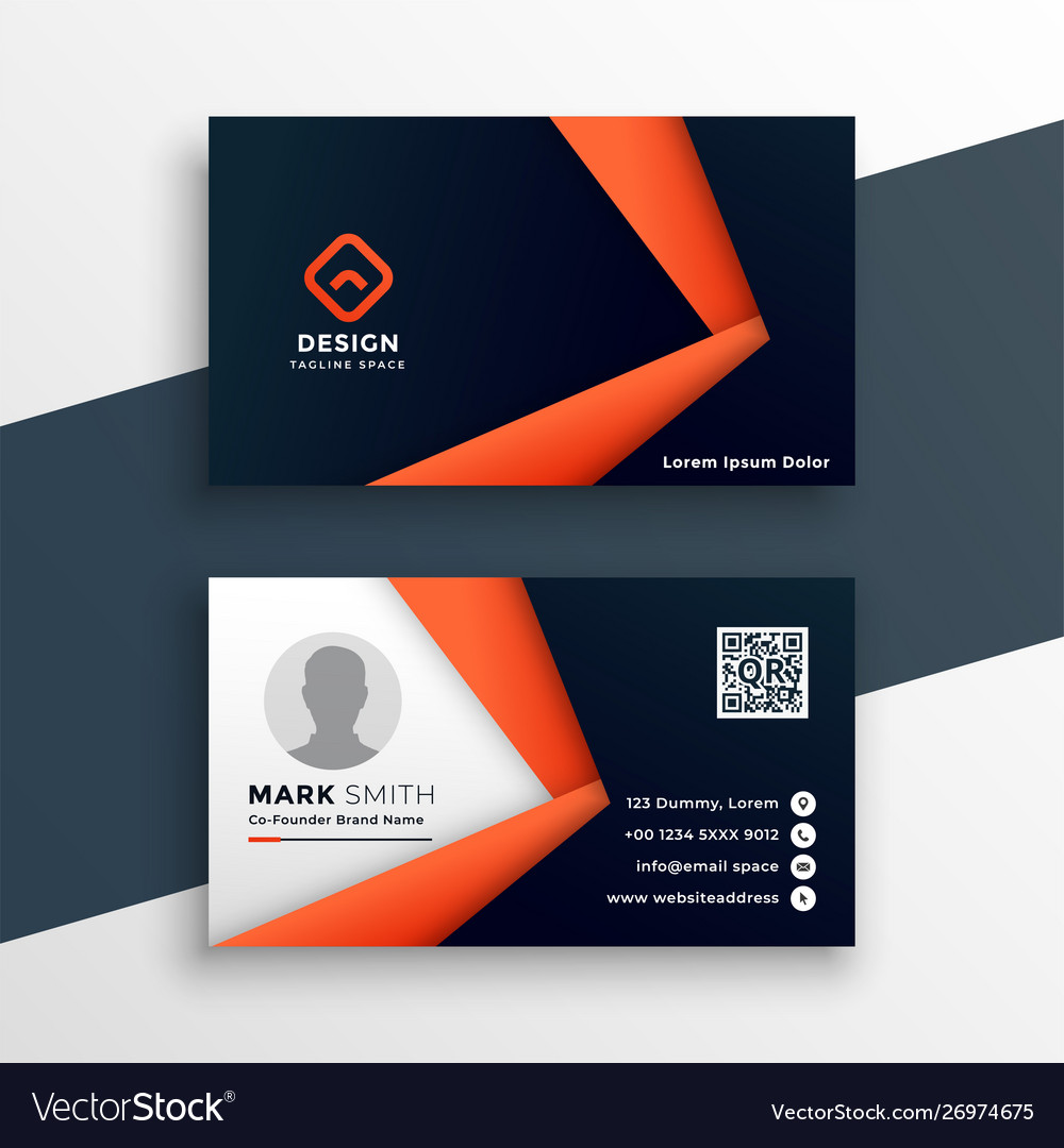 Professional Geometric Business Card Mockup Vector Image