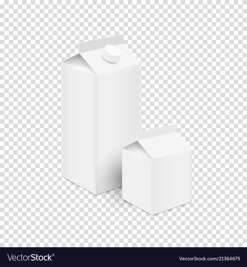 White blank tetra pak carton boxes for juice and