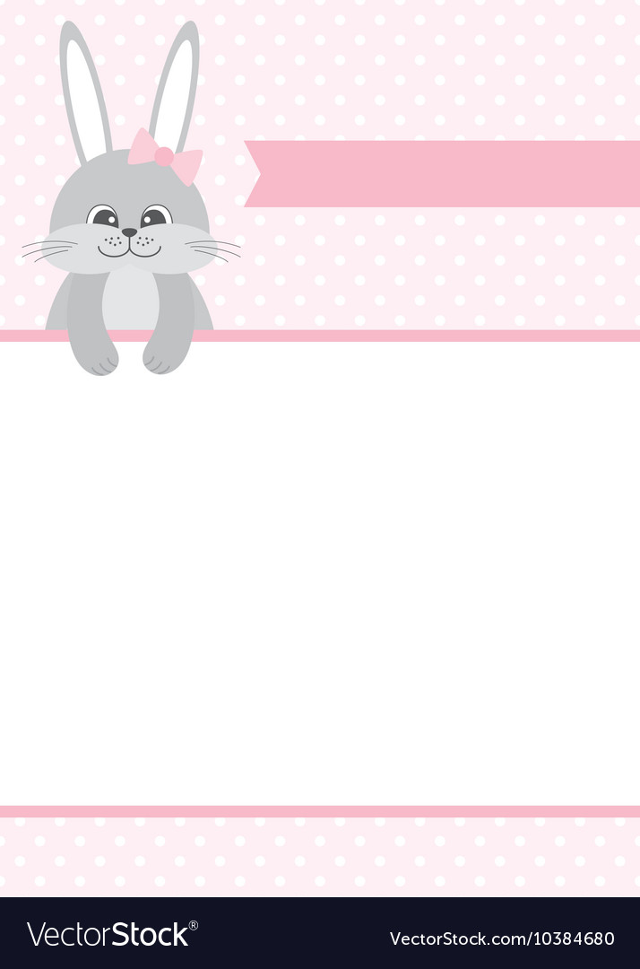 Bunny Card vector image