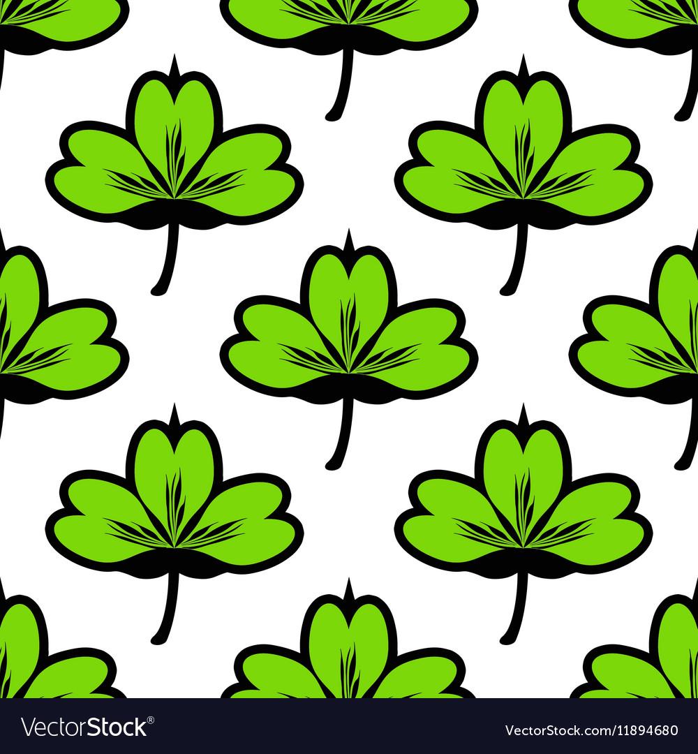 Clover leaf seamless pattern