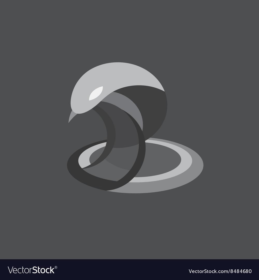 Cobra snake reptile flat on