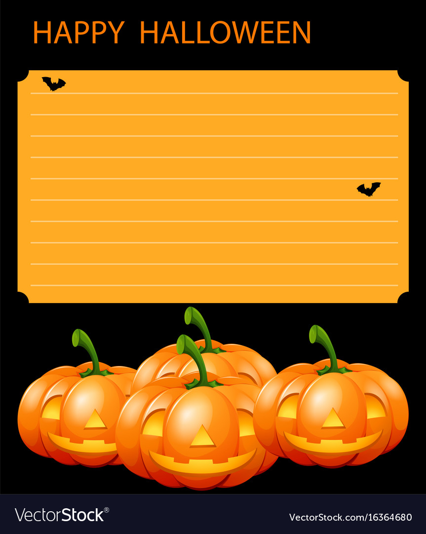 Paper template with halloween theme vector image
