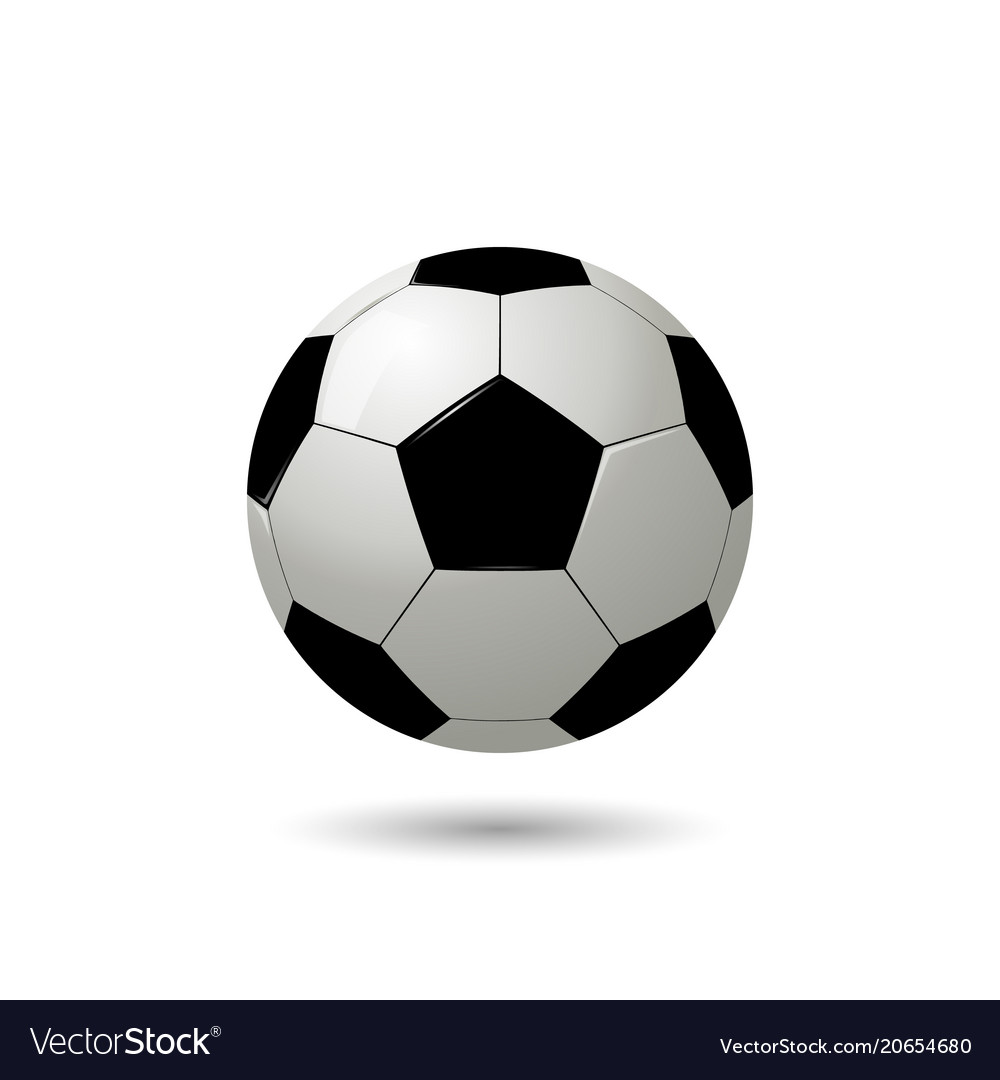 Realistic soccer ball on white background vector image