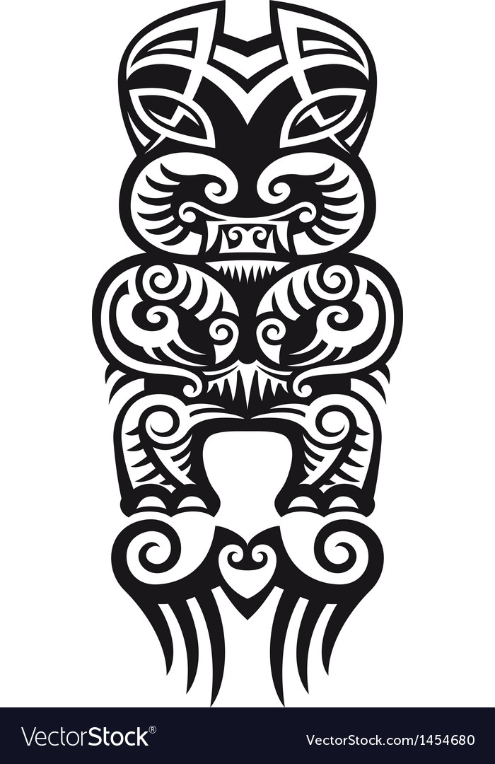 Taniwha tattoo design