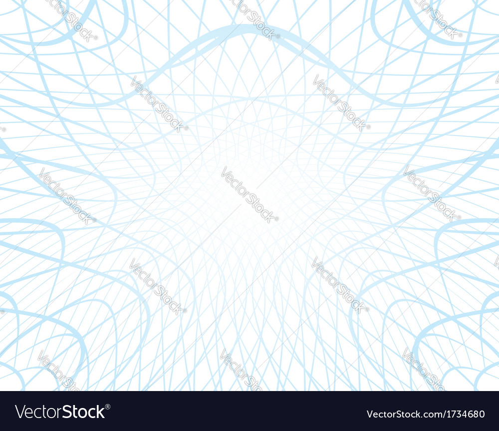 White background with distorted blue grid