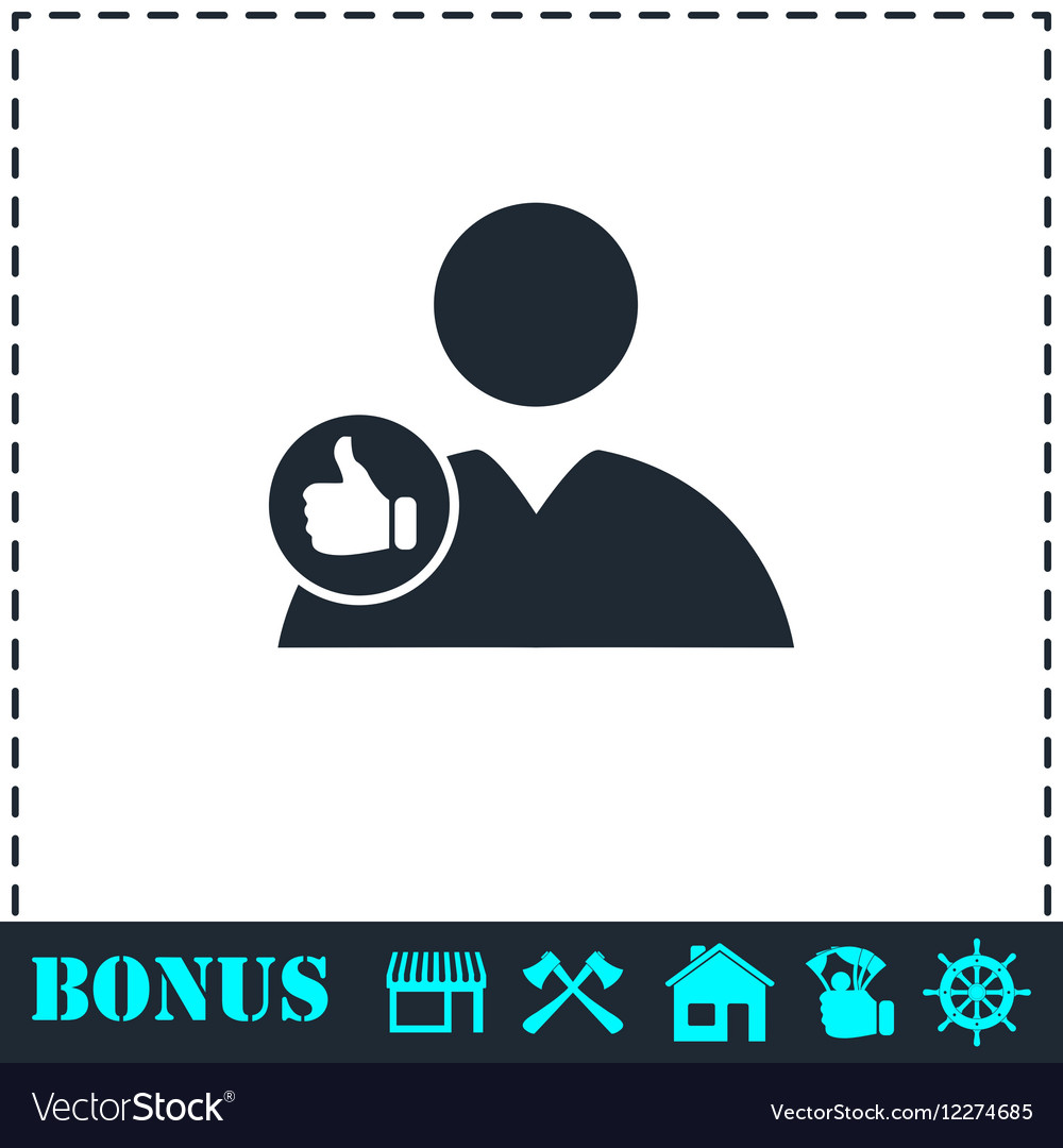 Avatar like icon flat vector image