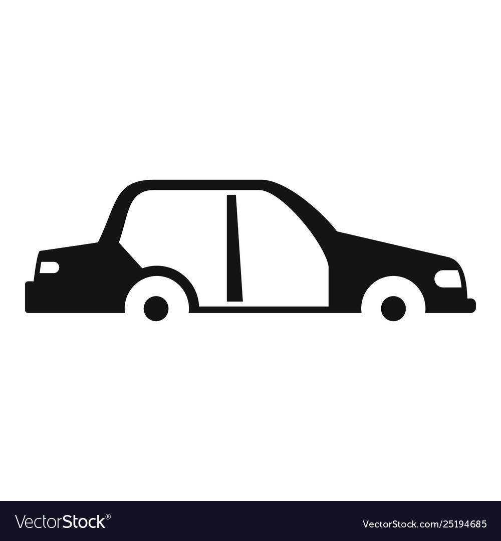 Car without some parts icon simple style
