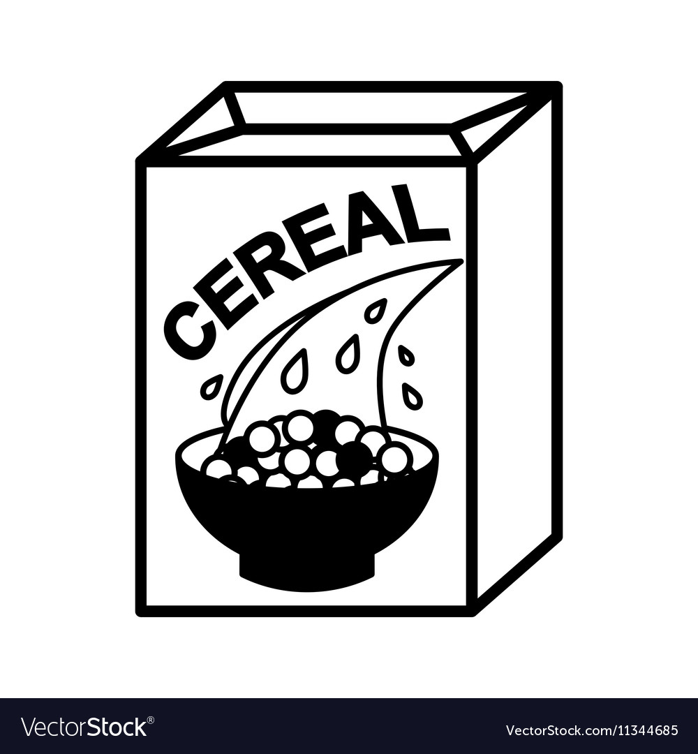 cereal box and bowl royalty free vector image vectorstock rh vectorstock com cereal box clipart free Animated Cereal