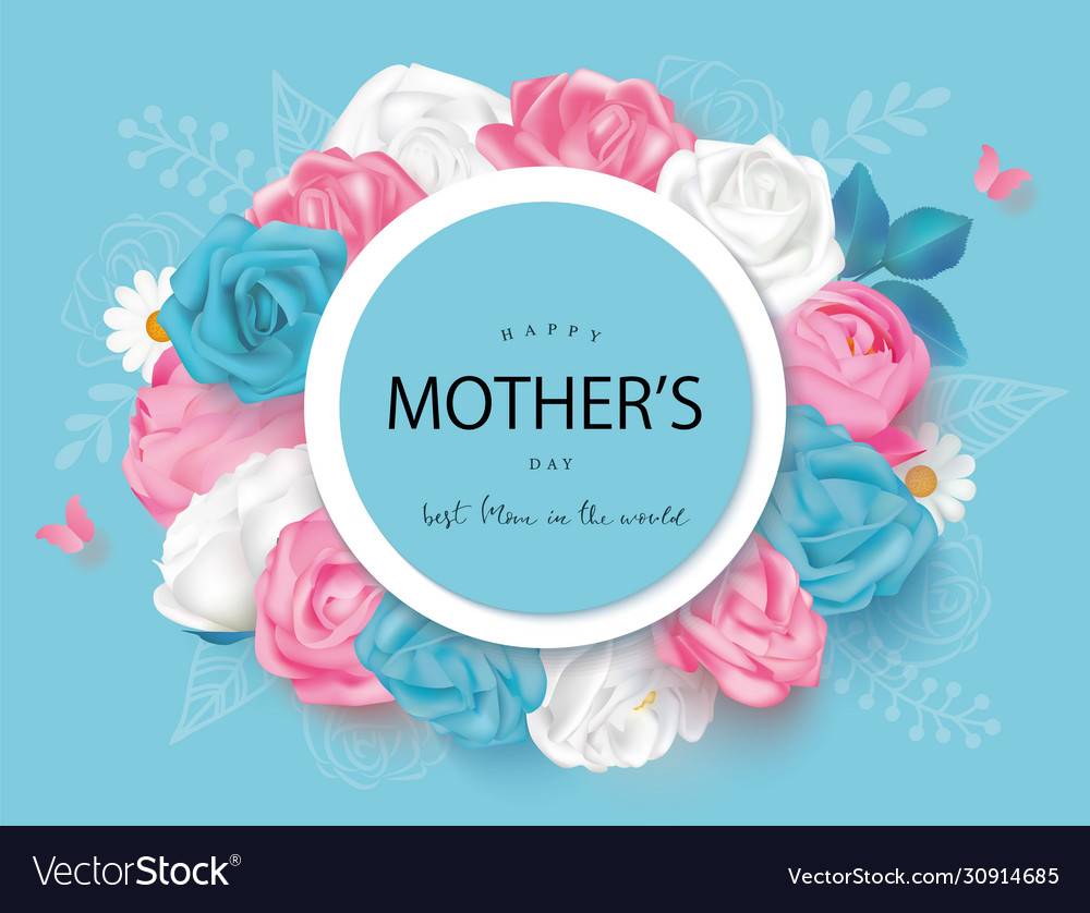 Creative mothers day cards with roses daisies