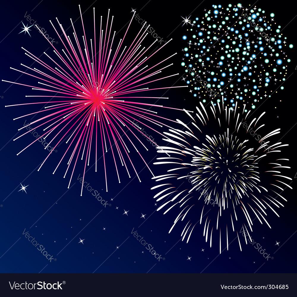Fireworks vector image