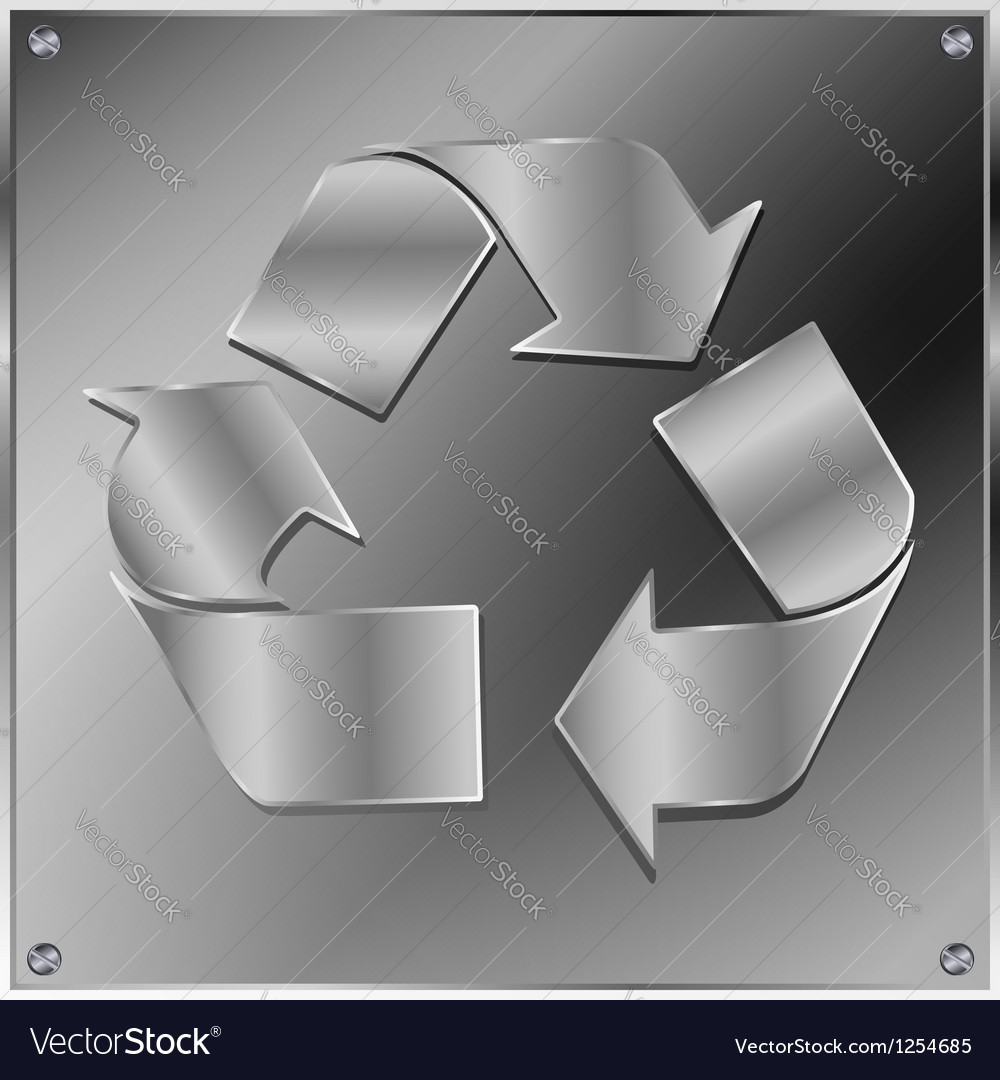 Metal recycle sign