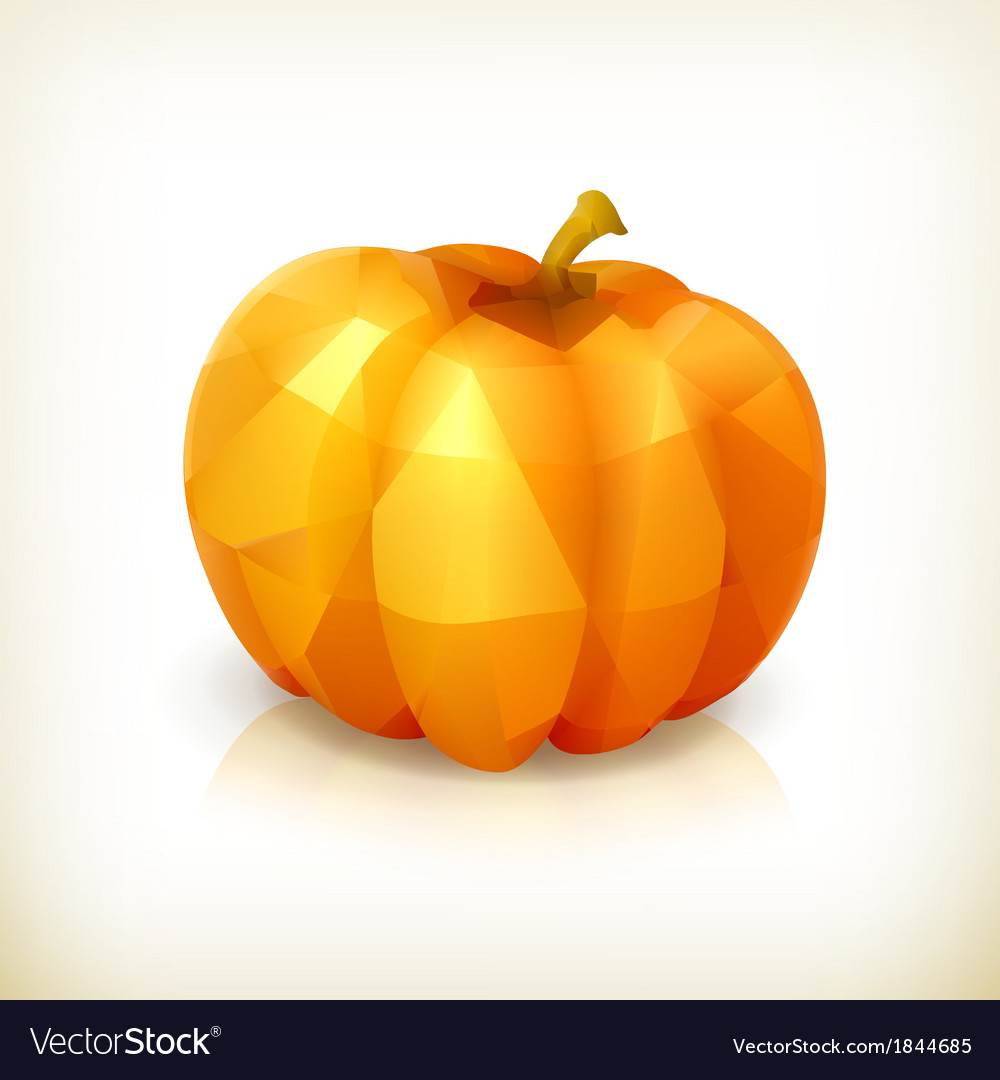 Pumpkin triangulation icon