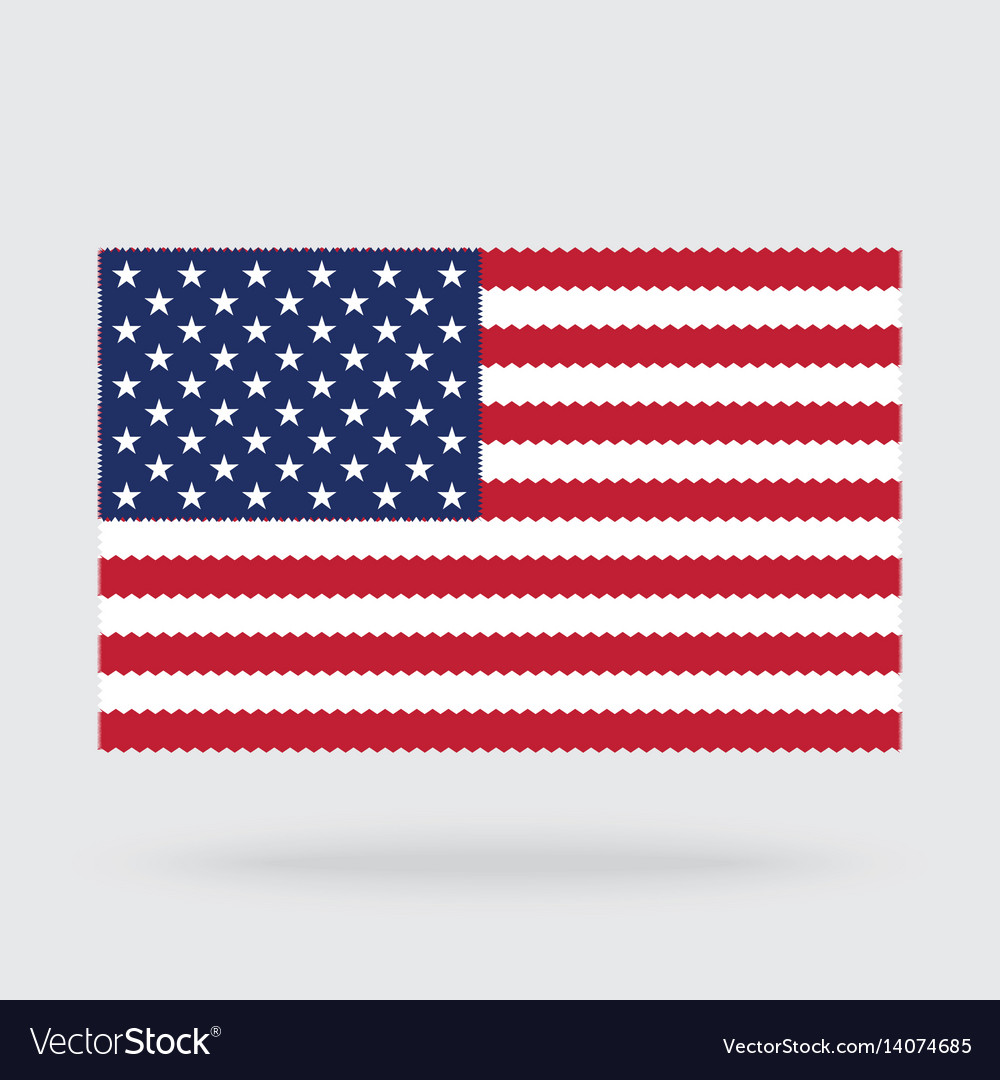 Usa flag cross stitch isolated on background
