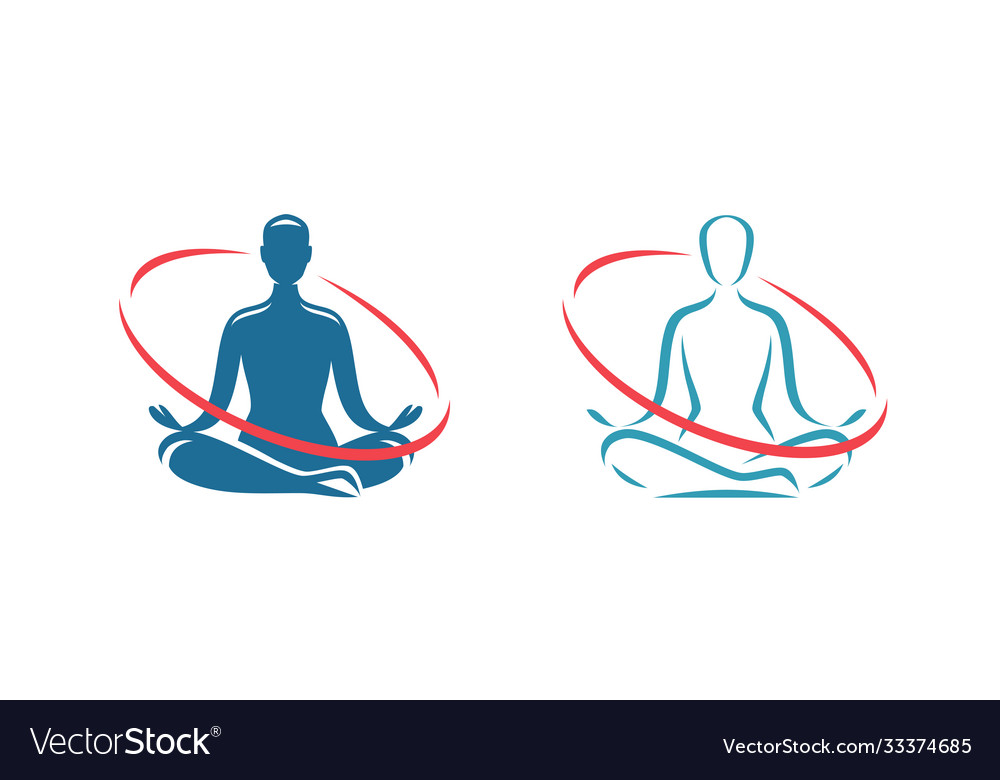 Yoga logo health treatment spa meditation