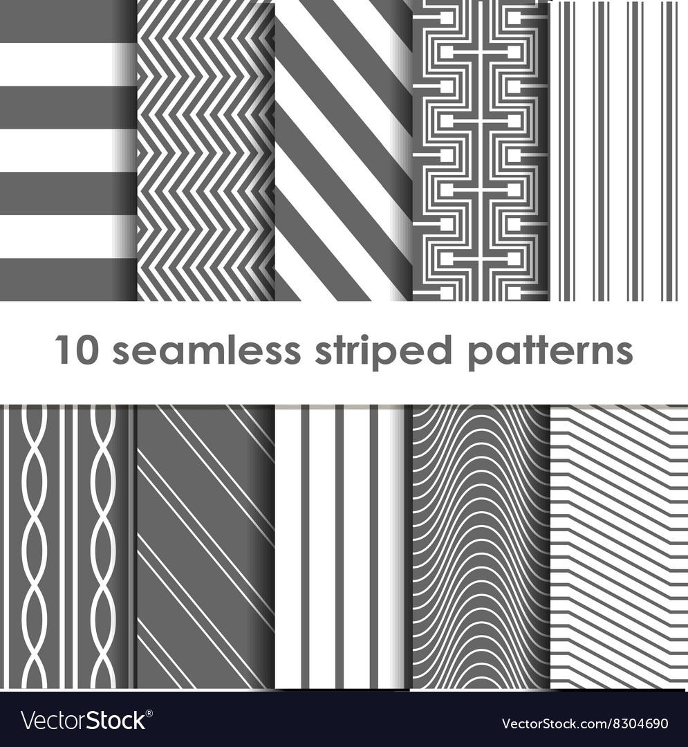 10 Seamless striped patterns