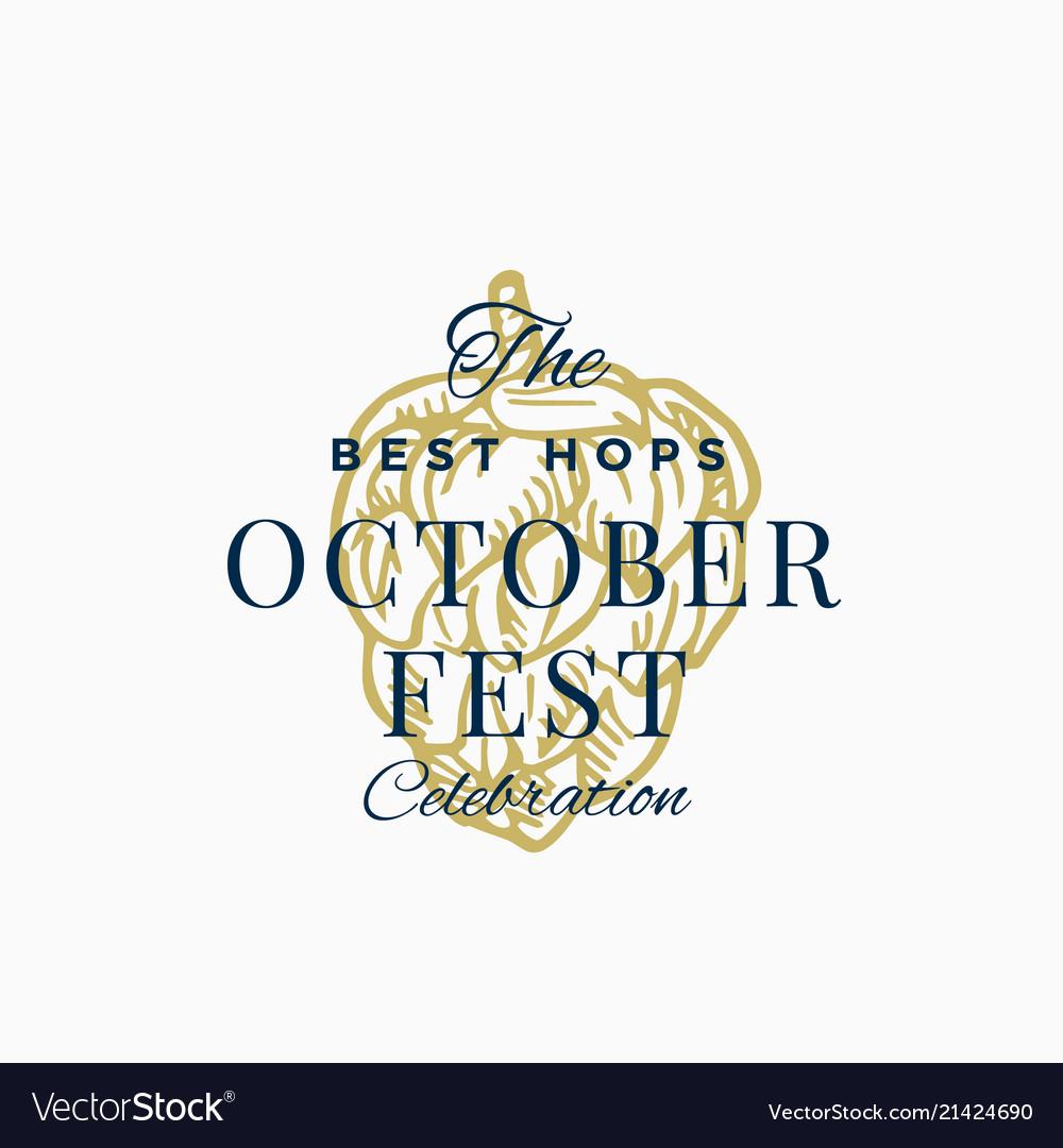 Best hops octoberfest celebration abstract