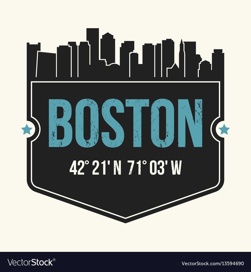 Boston city graphic t-shirt design tee print