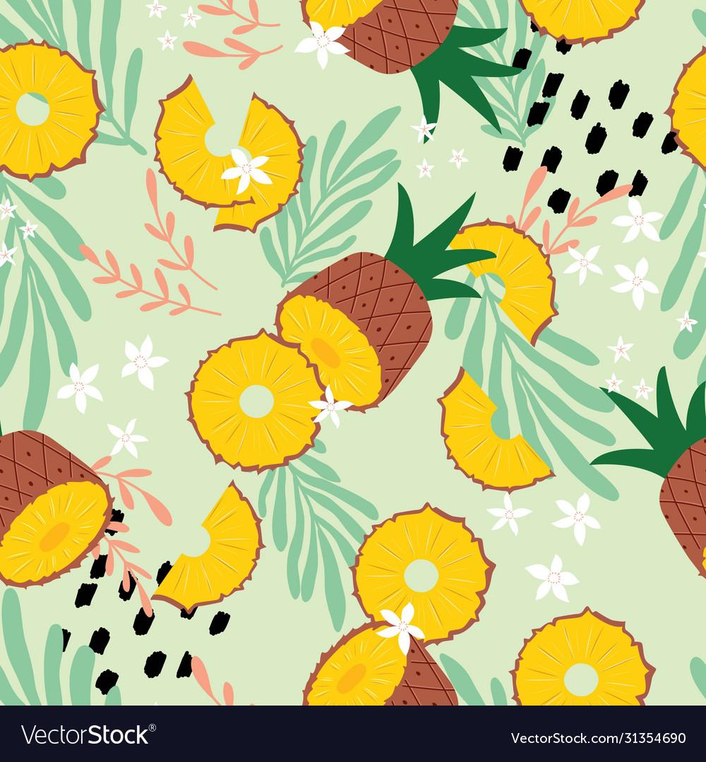 Fruit seamless pattern pineapple
