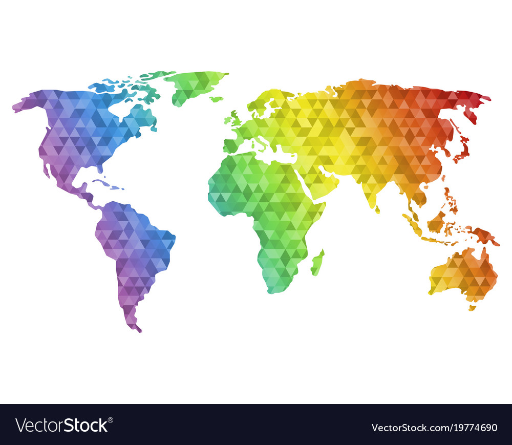 Polygonal world map royalty free vector image vectorstock polygonal world map vector image gumiabroncs Gallery