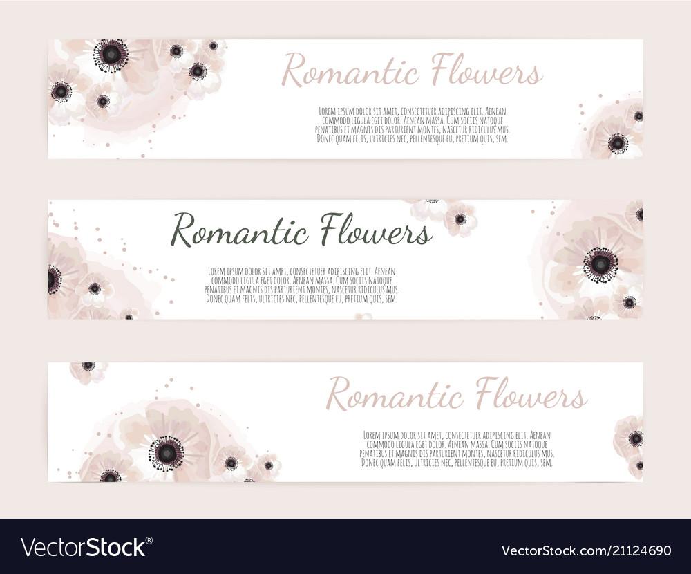 Set of floral labels