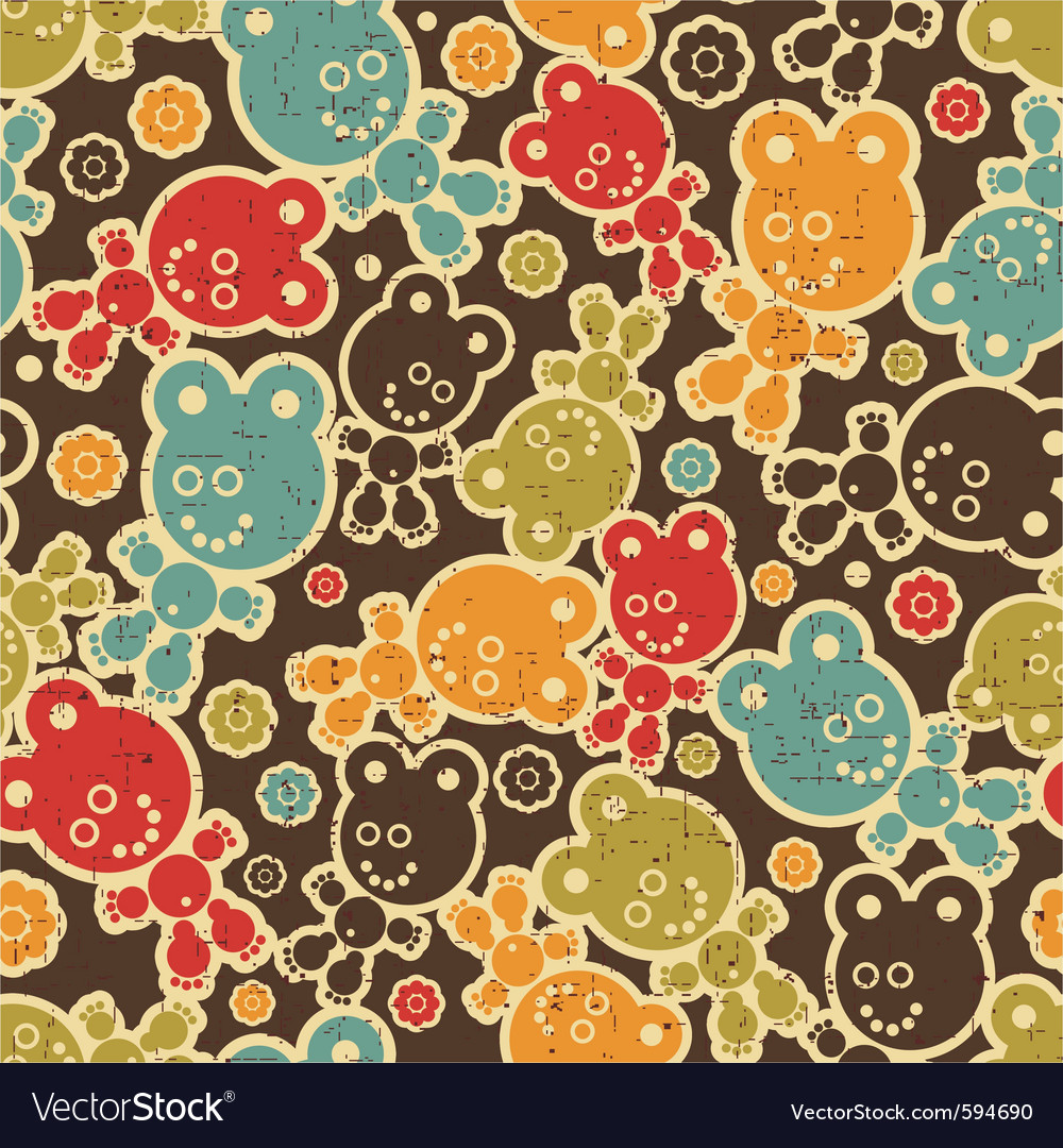 teddy bear background royalty free vector image