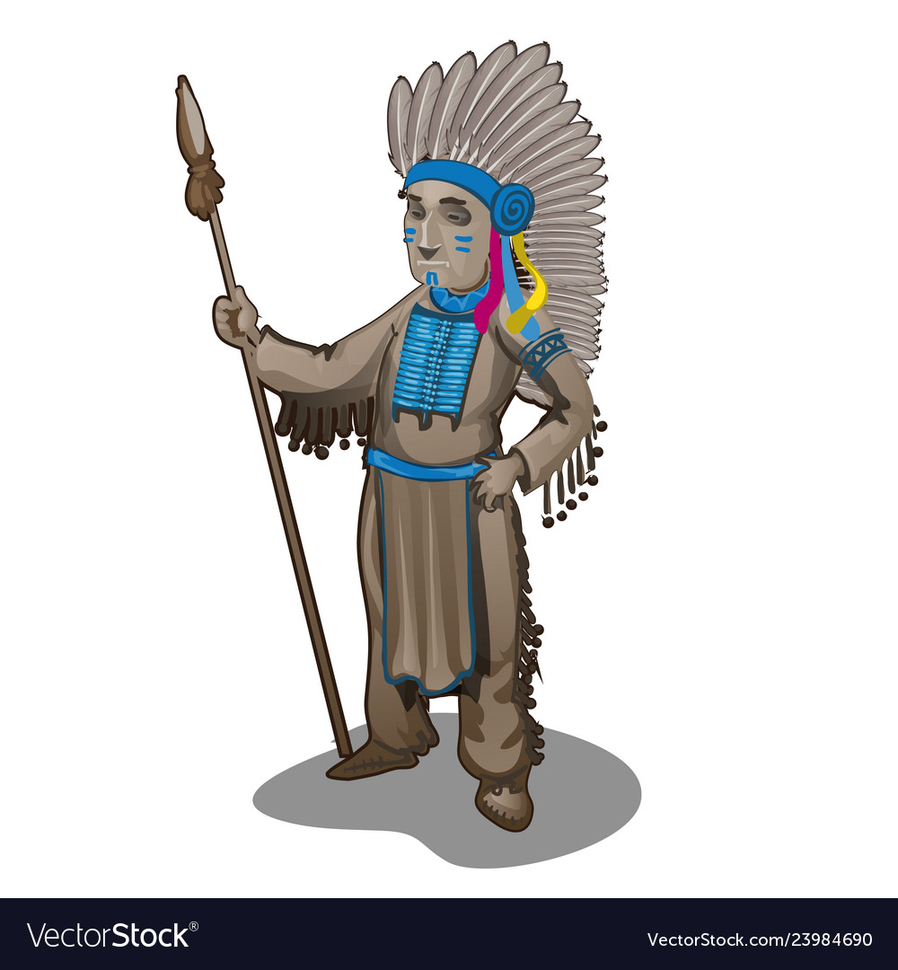 The statuette of the leader of a tribe of indians