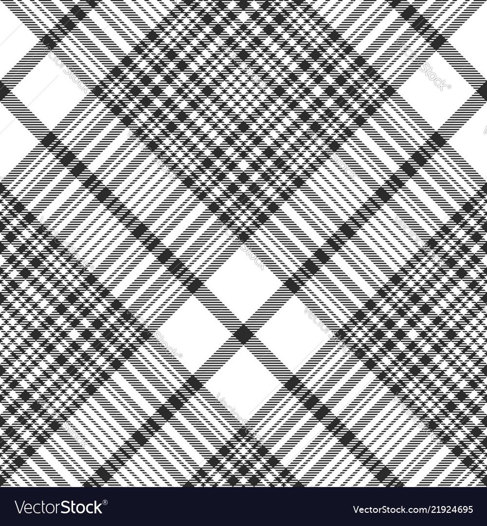 Black and white check plaid seamless fabric
