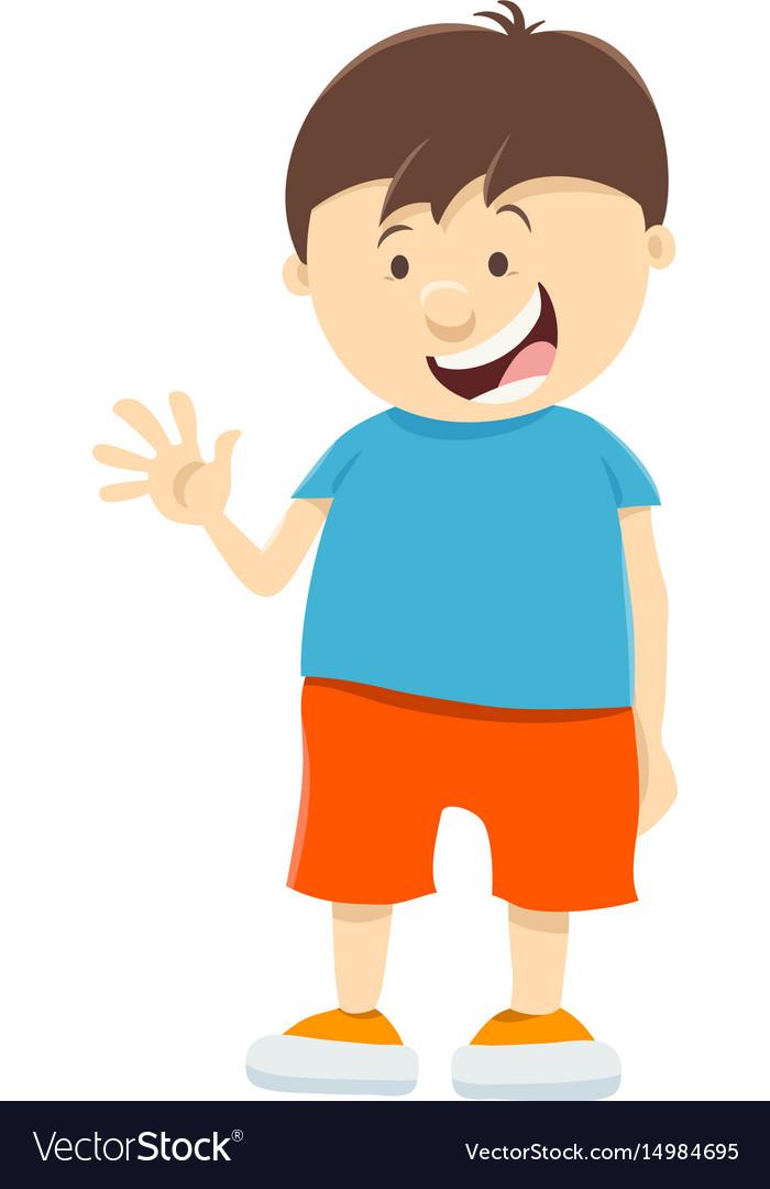 Cute kid boy cartoon character royalty free vector image - Cartoon boy wallpaper ...