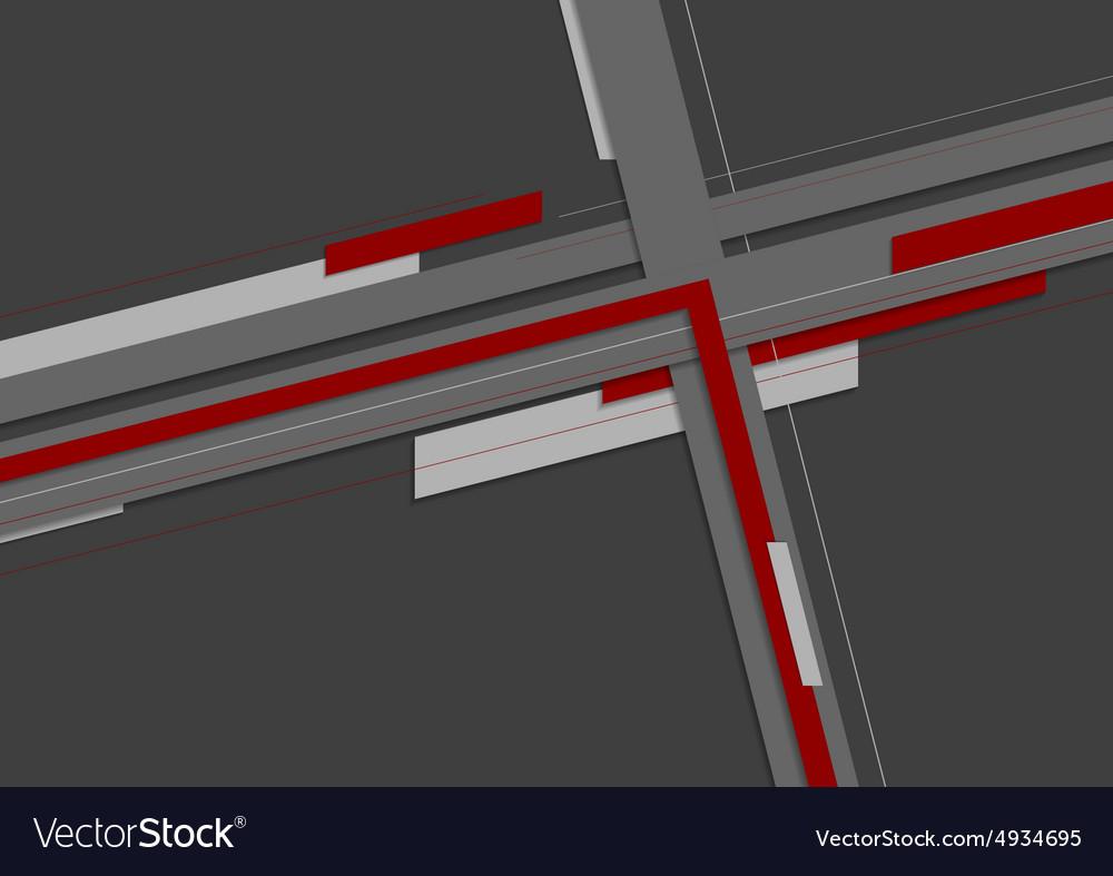 Dark geometric stripes background vector image