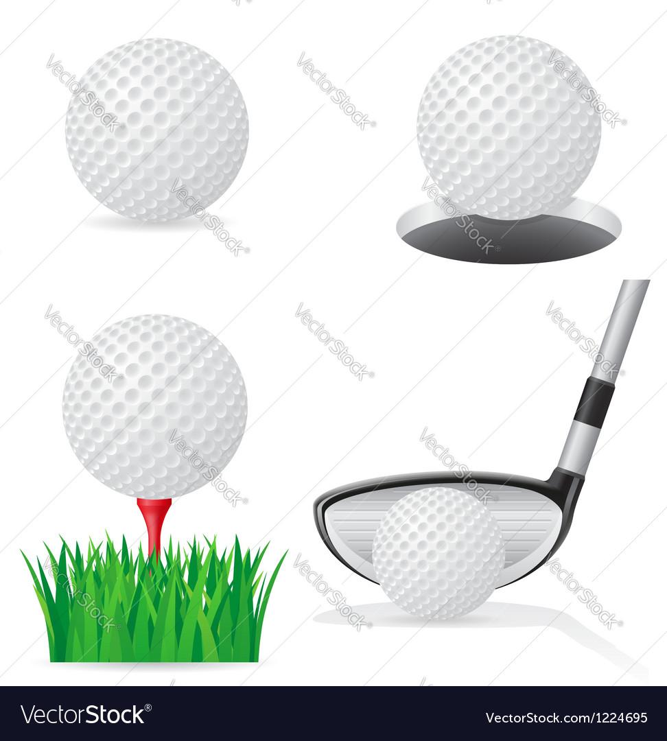 Golf 05 vector image