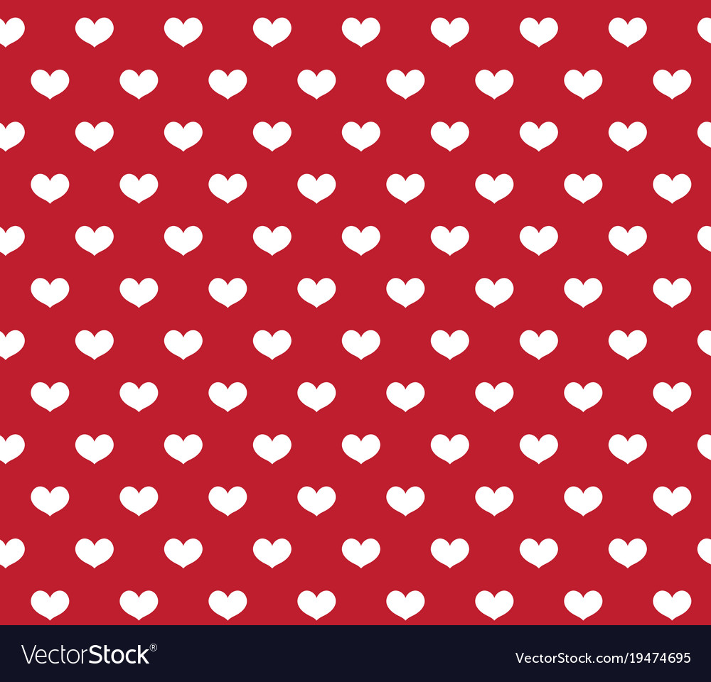 Heart seamless pattern love repeating texture