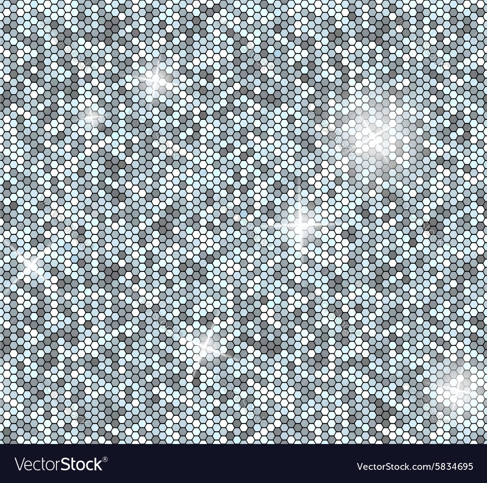 Silver seamless background with sequins Glitter vector image