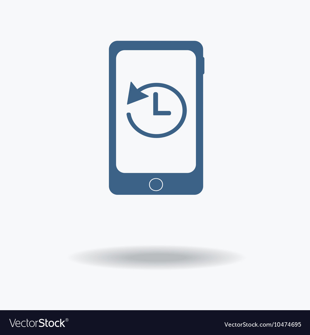 Smartphone with stopwatch Hand points at