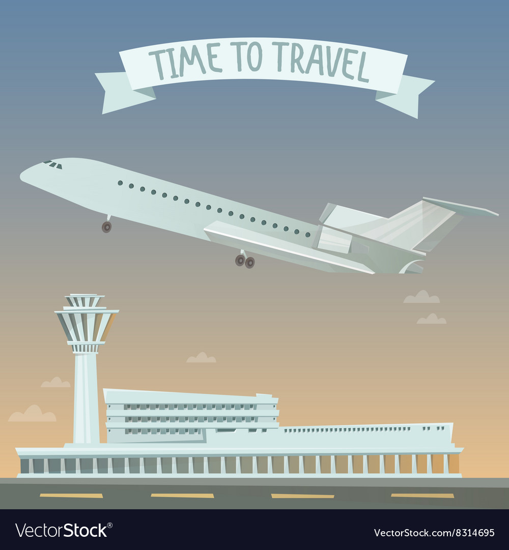 Travel Banner Travel by Airplane Time to Travel