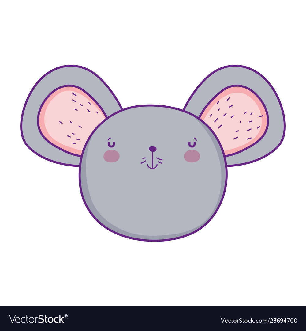 Cute and little mouse head character