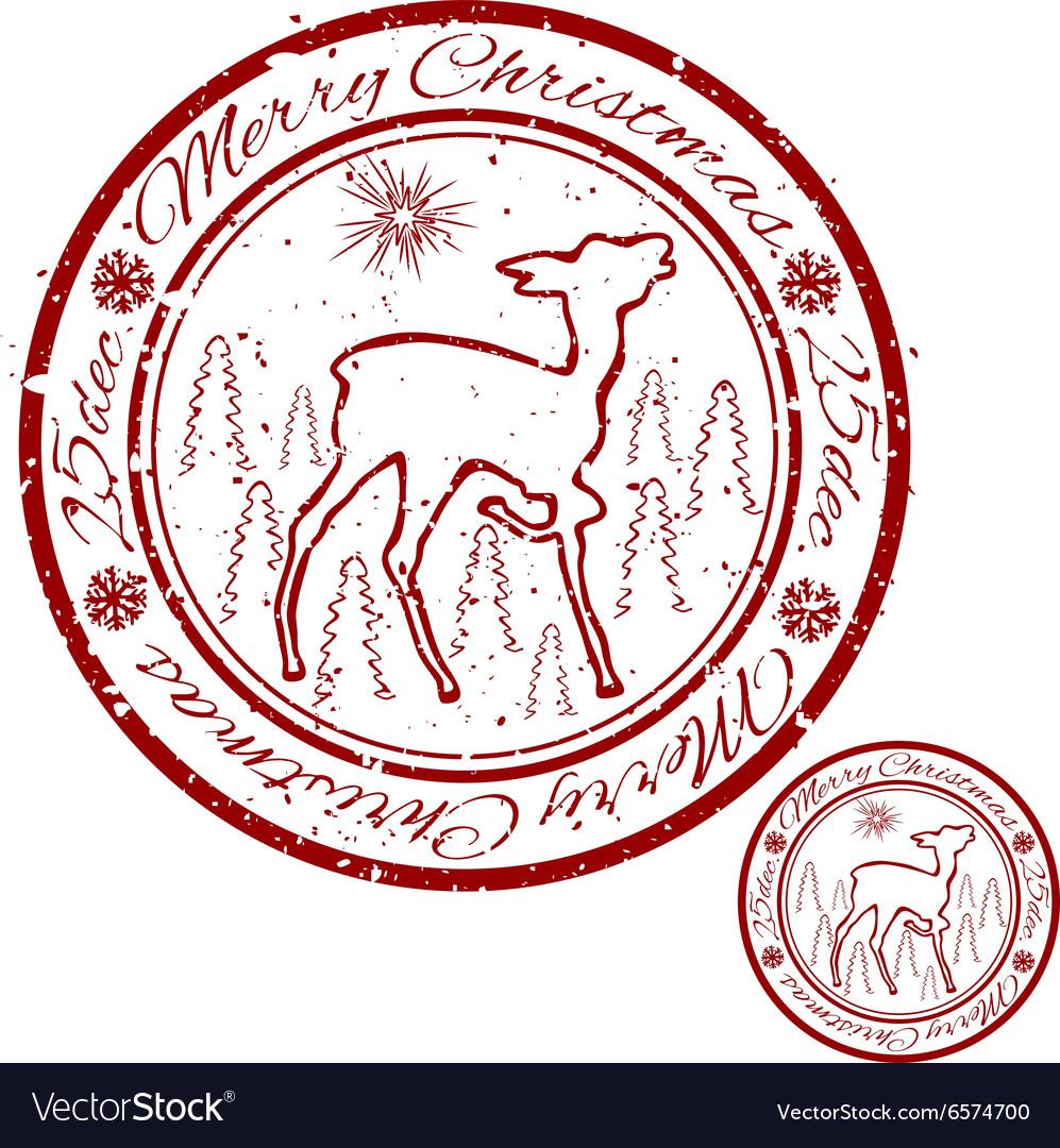 Grunge Christmas stamp