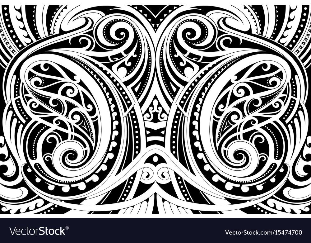 Maori ethnic ornament vector image
