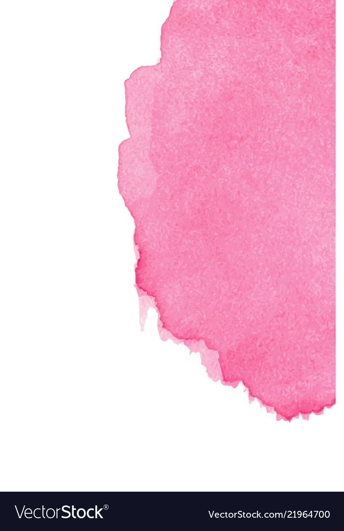 Pink abstract watercolor isolated on white