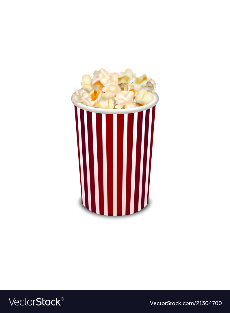 Realistic detailed 3d popcorn snack