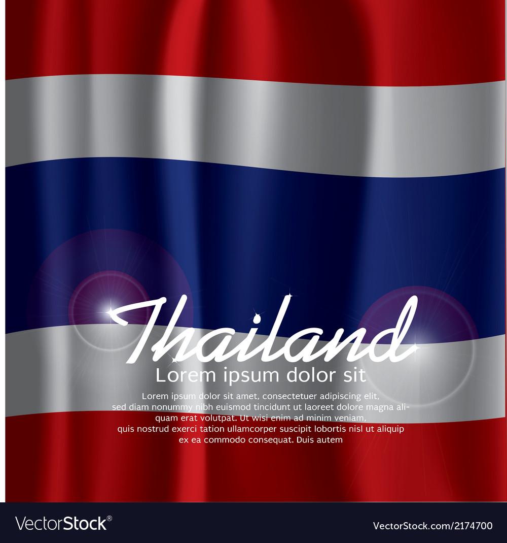 Thailand Flag Curtain